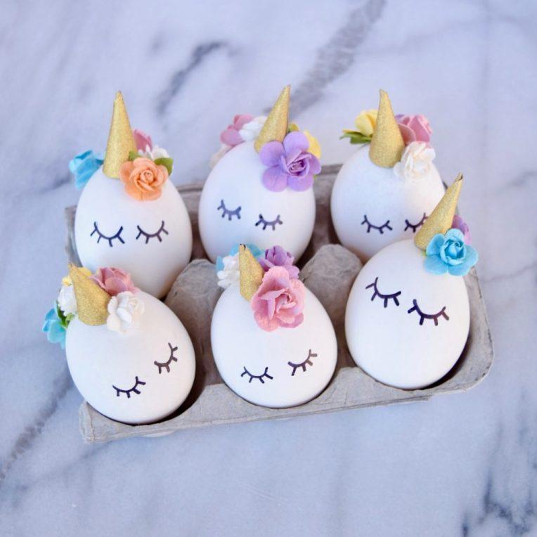 Idée déco : des licornes pour Pâques